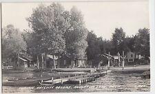 Michigan Mich RPPC Real Photo Postcard40s HOUGHTON LAKE Summit Heights Resort