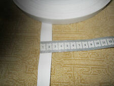 (1,15 € / m ) 5  m Gummiband  2 cm breit Farbe: weiß  Hohe Spannkraft