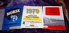 1 Morse Reconditioned Machinery Mining Rebuilt & 2 Minerals Equipment Catalogs