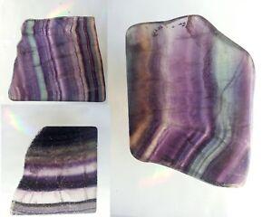 Quality Rainbow Fluorite polished slice mineral specimen gemstone crystal