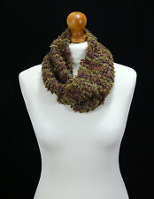 Hand made multicoloured twisted infinity scarf.