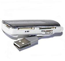 LECTEUR de CARTES Mémoire (SD,MiniSD,MicroSD,MS,MS Duo,SDHC,etc...)/USB - Noir.