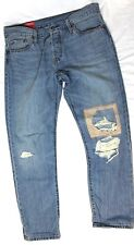 Levis 501ct Cropped Customized Tapered Jeans Women's Blue NEW NWT 6715 29x32