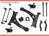 12PC Front Suspension Control Arm Ball Joint Sway Bar Kit 2003-08 Toyota Corolla