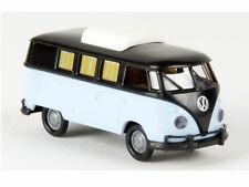 Brekina 31568 VW Camper T1b schwarz hellblau Hubdach geschlossen 1:87 Neu