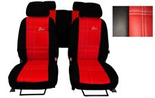 Universal Red EcoLeather Full Set Car Seat Covers for Nissan Micra / Note /Tiida