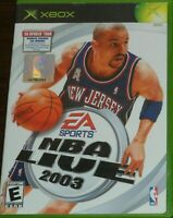 NBA LIVE 2003 XBOX Original Inc Manual