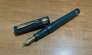 Santini Italia Libra Caribbean Ebonite Fountain Pen 18KT Fine Nib