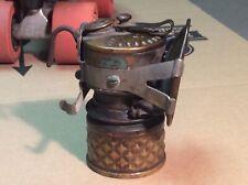 Vintage Brass Carbide Miner's Lamp A.L. Hansen Manufacturing Co. Chicago USA.