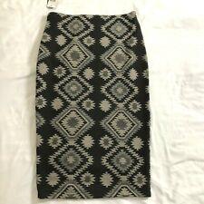 A Byer Pencil Skirt Size Small Aztec Pattern Southwestern Elastic Waist