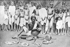 INDIA. A Snake-charmer at the Chaibasa mela;  1900 old antique print picture