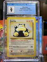 🌴JUNGLE🌴1999 Pokemon 27/64 - Snorlax Non Holo Rare - CGC 9 MINT - PSA BGS