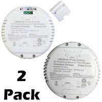 2 PK 60W Triac Dimmable LED Light Round Driver Power Supply Class 2 12v 24v