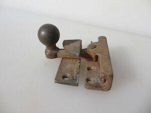 Vintage Iron Sash Window Latch Lock Catch Fastener Old Antique