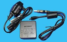 GENUINE ORIGINAL SONY AC-UB10C AC ADAPTOR + USB CABLE - UK STOCK