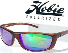 aca0444401 NEW  HOBIE VENICE Satin Woodgrain Sport POLARIZED Copper Green Lens Sunglass