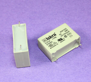5pcs ISKRA MKP Box Capacitor, 275vac, 0.47uF, 10% Metallized Polypropylene Film