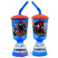 Marvel Spiderman Snowglobe Tumbler with Straw Kids Fun Floats Bottle Cup