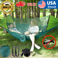 US Double Person Camping Tent Hanging Hammock Bed with Mosquito Net Portable Set