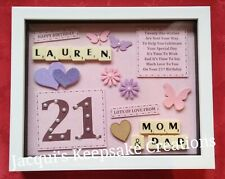 21st BIRTHDAY Personalised Gift Frame Picture KEEPSAKE Present
