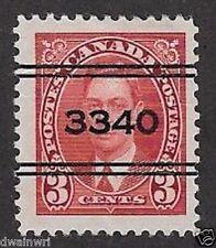 Canada Precancel stamp - City: Kingston 3-233,  CV $10.00