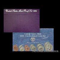 1989 P+D+S Mint Proof Set ~ Kennedy Washington Roosevelt Jefferson Lincoln