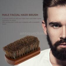 Men Beard Brush Natural Horse Hair Mustache Shaving Brush Facial Hair Brush D8G9