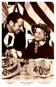 """SHIRLEY TEMPLE as Child & Jack Holt """"The Littlest Rebel"""" Celebratory Cakes RPPC"""