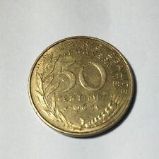50 centimes LAGRIFFOUL 1963 col 3 plis Num1