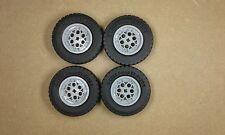 Lego Technic Big Wheels  & Tyres Set of 4 - 62.4mm x 20mm NEW 4547373 4551421