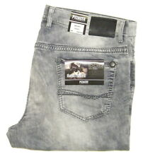 PIONEER ® RANDO W 35 L36 Stretch Jeans GREY USED HANDCRAFTED 9873.324