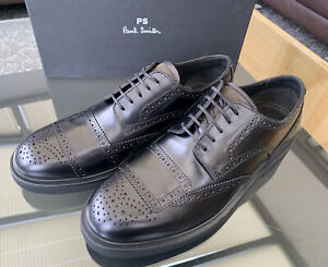 Brand New Paul Smith Thornton Calf Leather Black Shoes Size UK10 US11 EUR44