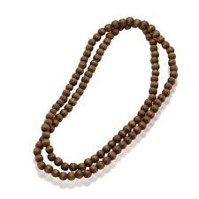Men's Wood Necklaces 128 Beads Long Necklace Jewelry Simple Sweater Accessories