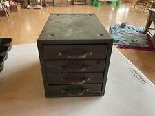 Vintage Green 4 Drawer Parts Cabinet Chest Organizer Metal Industrial Decor