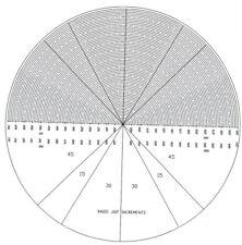 Optical Comparator Chart Overlay Mylar Profile Projector