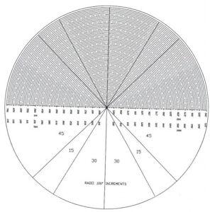 "20""  - Optical Comparator Chart Overlay Mylar - North American Made"
