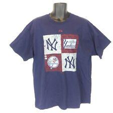 New NWT Majestic Men's XL New York Yankees Navy Blue Cotton Short-Sleeve T-Shirt