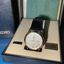 SEIKO Quartz vintage watch genuine calfskin brand new