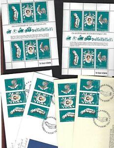 New Hebrides BR. sc#258 FR #278 (1978) Souvenir Sheets MNH  + FDC's