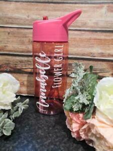 Kids Wedding Role Water Bottle Flower Girl, Page Boy, Gift Vinyl Sticker Only