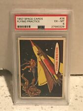 1957 Topps SPACE CARDS #26 - FLYING PRACTICE - PSA 6 EX-MT - T.C.G.