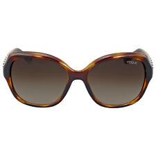 Vogue Striped Dark Havana Sunglasses
