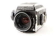 Zenza Bronica S2 Black w/ NIKKOR-P 75mm f2.8 VG+ condition from Japan