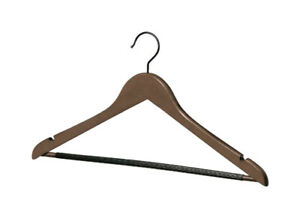 Whitmor 6340-340 Wood Walnut Stained Suit Hangers 17.5 L x 9.5 W x 3 H in.