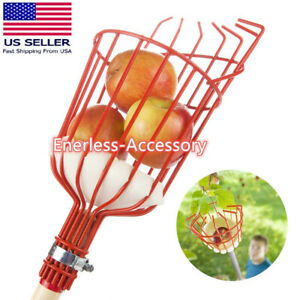 Fruit Picker Twist-On Harvester Basket with Cushion for Fruits Apples Avocados