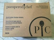 Pampered Chef 100118 Quick Cooker Steamer Basket (2) New In Box