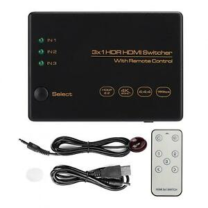 Switcher 3 In 1 Out Switcher Switch Device Aluminum Alloy For Dolby High