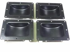"Four (4) Recessed Black Castor Dish 6"" x 4"" to Fit 3"" or 4"" Wheels For ATA Cases"
