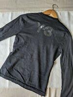 Yohji Yamamoto Y's Y-3 RARE black wool long sleeve ladies tshirt XS
