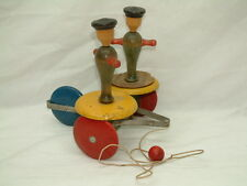 Antique Toy Tinker Wooden WHIRLY TINKER Pull Toy w/ Instructions - RARE